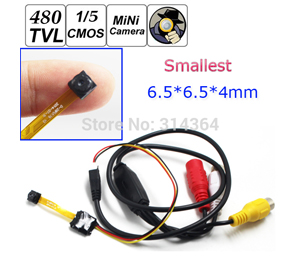 Smallest Nightvision CCTV Camera, 420TVL,Size 6*6*4mm,30fps,1LUX, 5-12V