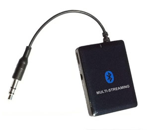 KOKKIA A10m (NEW Luxurious Black) MULTI-STREAM 3.5mm Universal EDR Bluetooth Stereo Transmitter/Splitter (can stream to 2 EDR receivers concurrently)