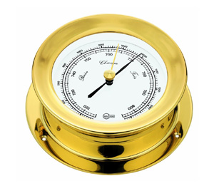 Barigo 1135 Barometer with White Dial and Brass Case (Matches 1137 and 1139)