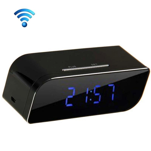 P2P Network Mini IP Camera H.264 HD 720P Wifi Clock Camera,Support Night Vision / Motion Detection(Black)
